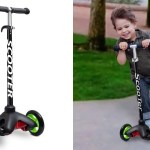 Kids Deluxe 3 Wheel Glider Scooter With Kick N Go