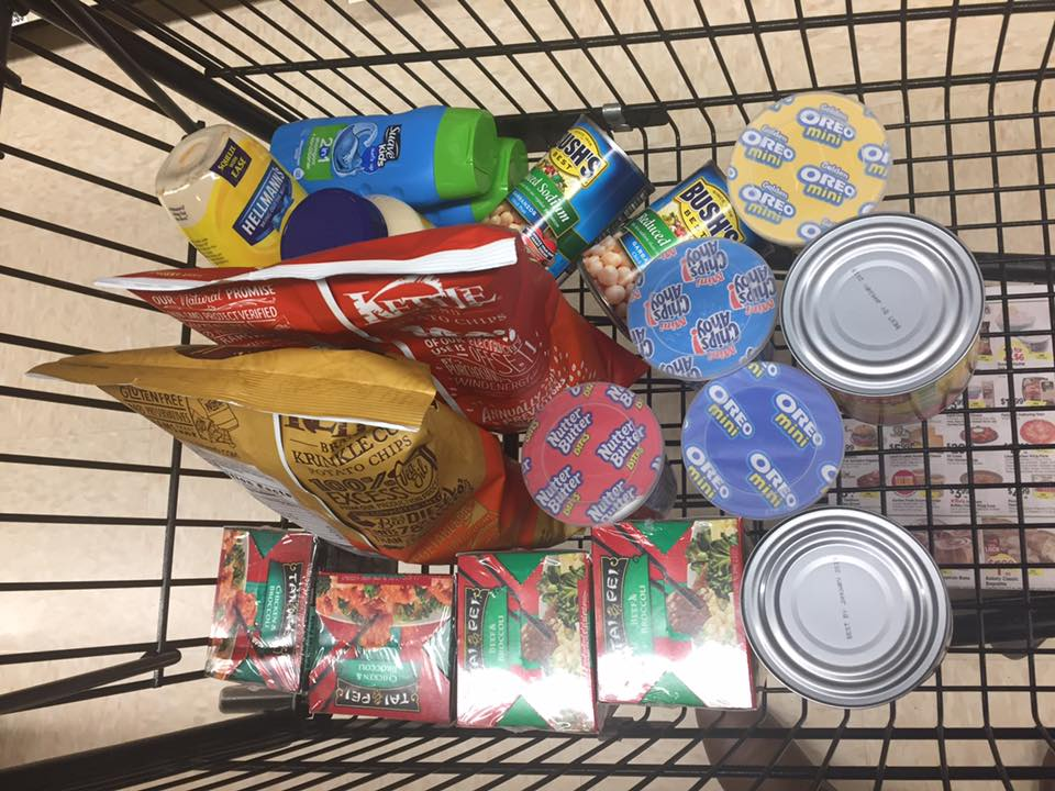 Shopping Cart Items At Tops