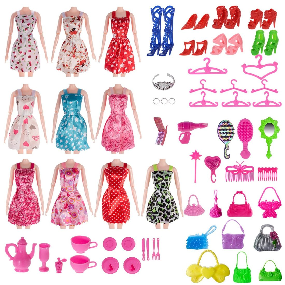 Barbie Compatible Total 120pcs Accessory Set