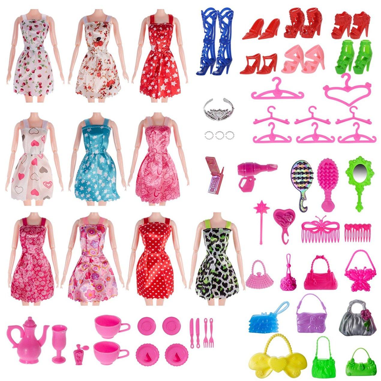 Barbie Compatible Total 120pcs Accessory Set