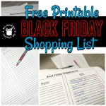 Free Printable Black Friday Shopping List