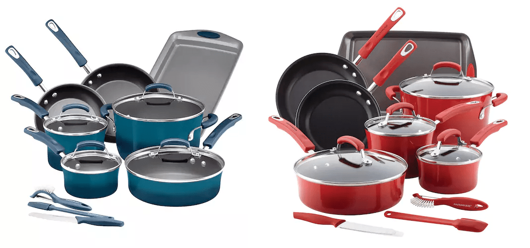 Rachael Ray Brights 14 Pc Nonstick Cookware Set