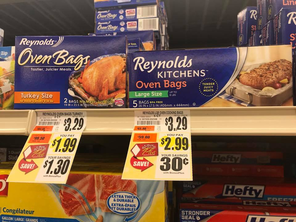 Reynolds Oven Bags Sale At Tops Markets