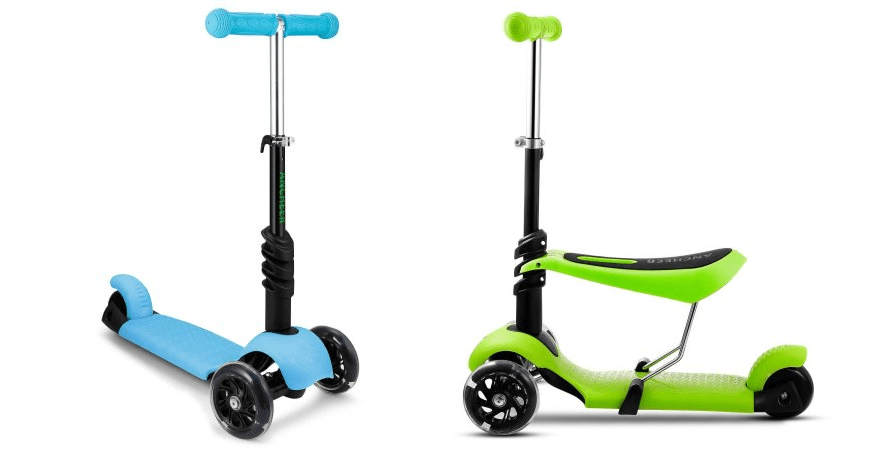 3 In 1 Toddler Scooters With Adjustable Handle T Bar & Seat