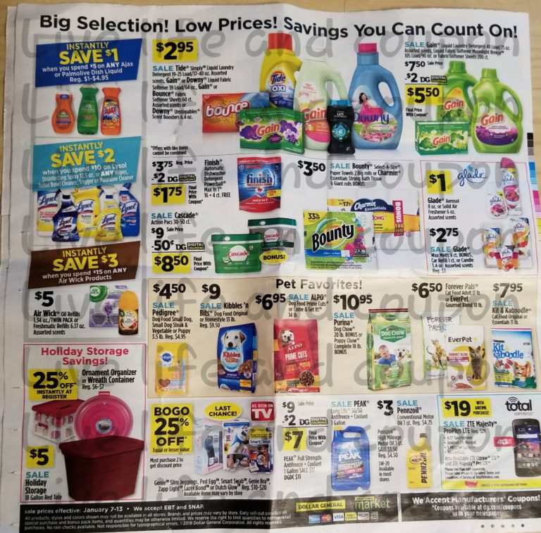 Dollar General Ad Week 1 7 18 Page 4