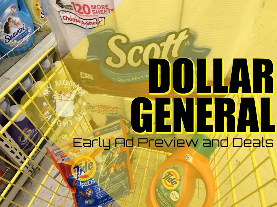 Dollar General Early Ad Previews