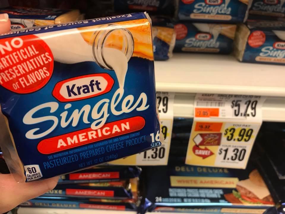 Kraft Cheeese Singles At Tops Markets