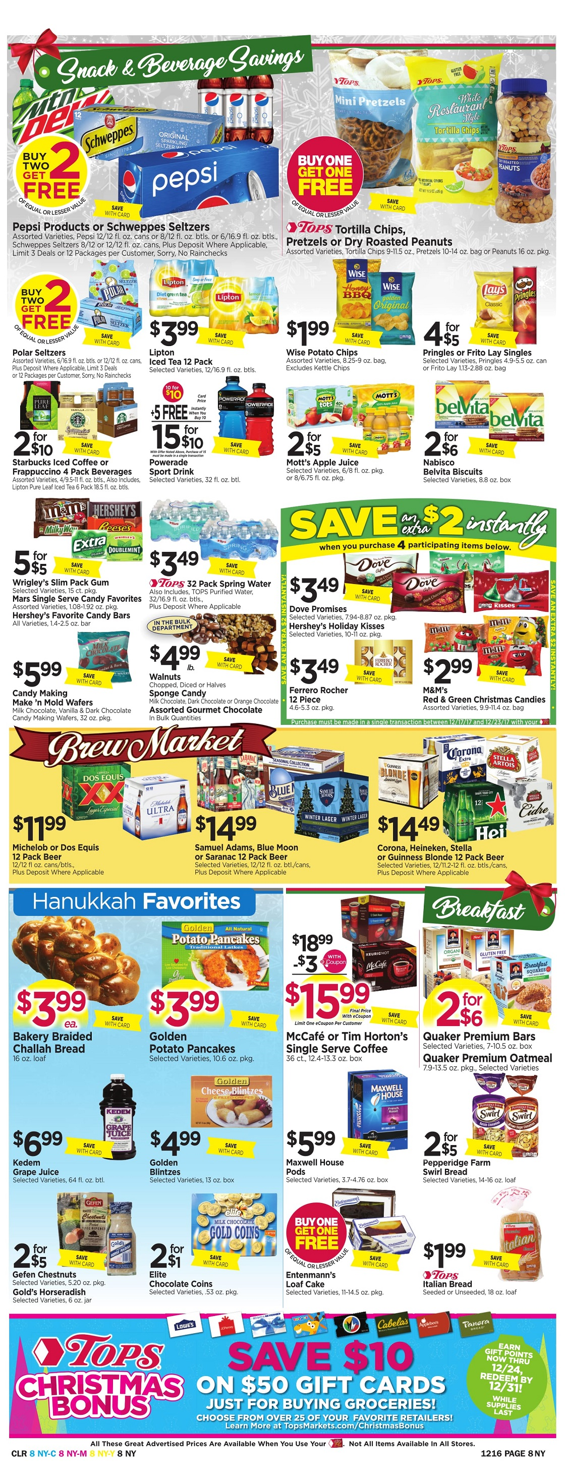 Tops Markets Ad Preview Week 12 10 Page 8