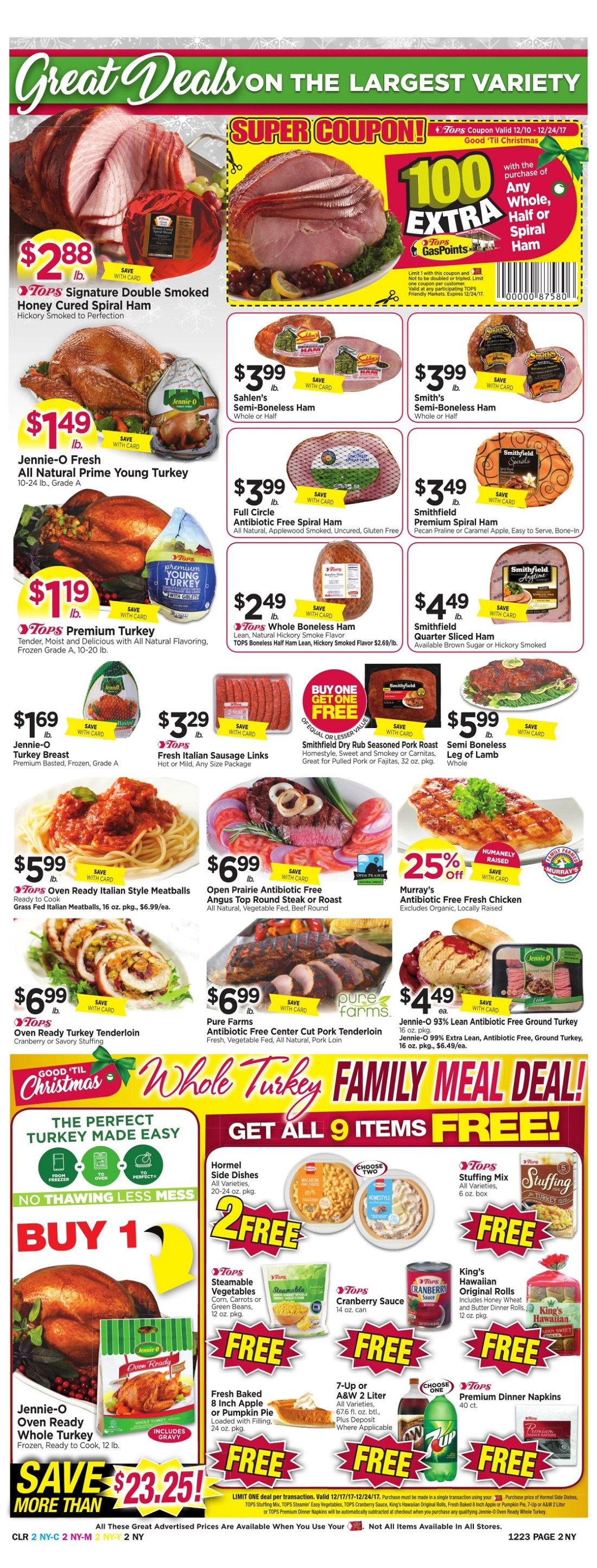 Tops Markets Ad Scan Week 12 17 Page 2