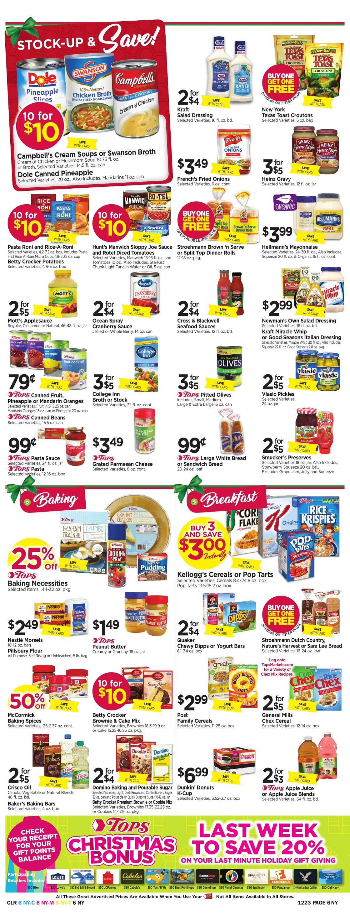 Tops Markets Ad Scan Week 12 17 Page 6