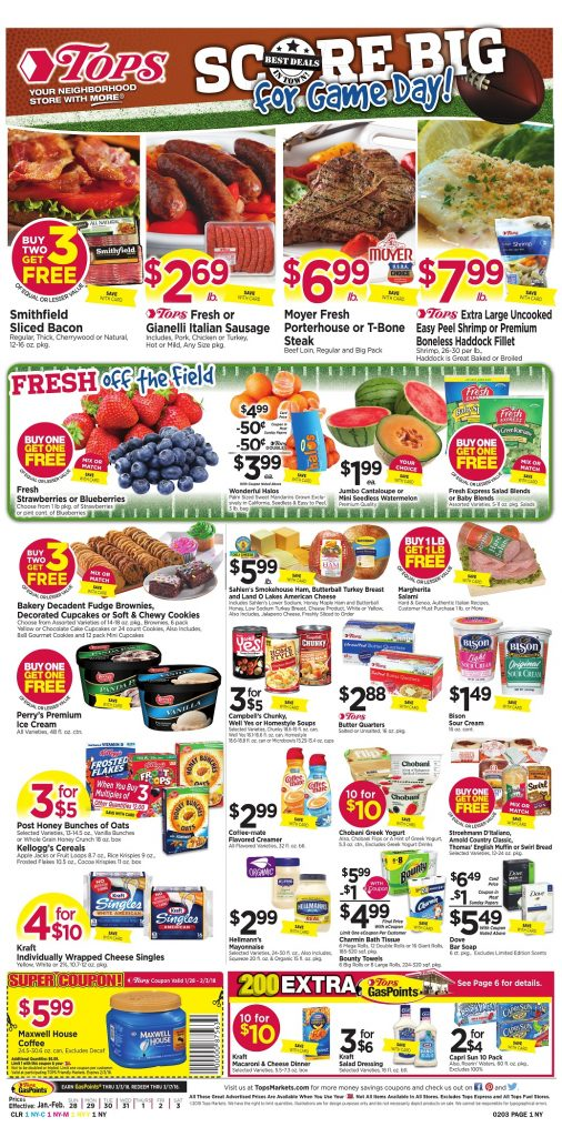 Tops Markets Ad Preview Week 1 28 18 Page 1