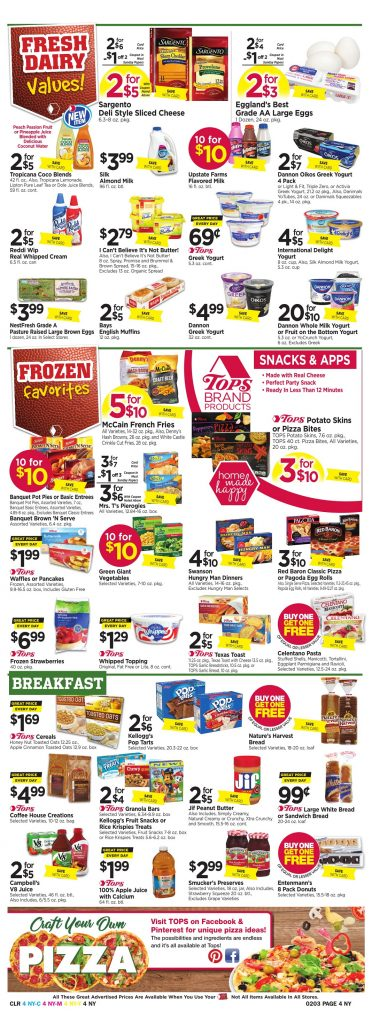 Tops Markets Ad Preview Week 1 28 18 Page 4