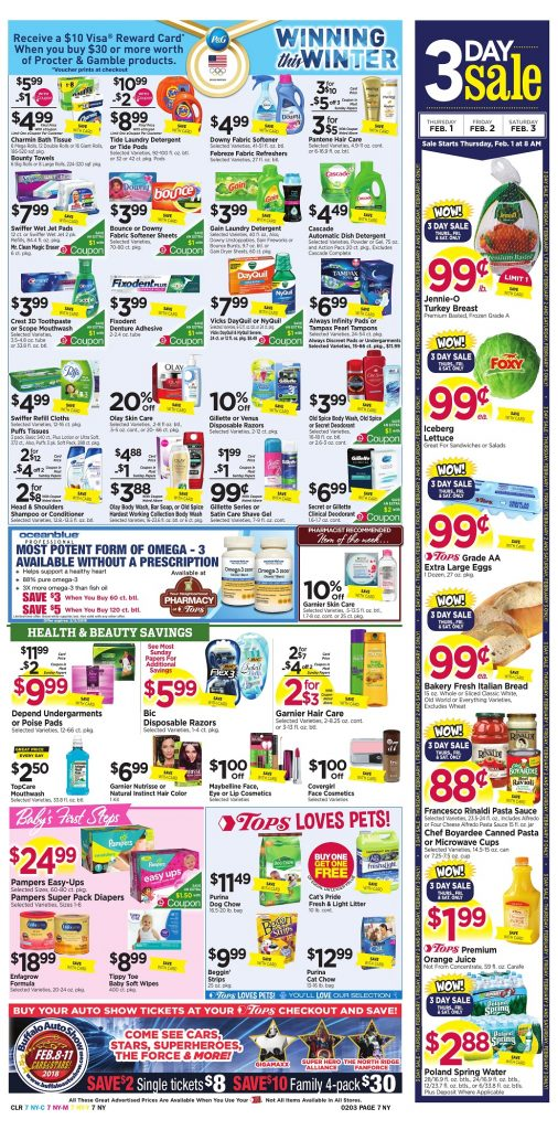 Tops Markets Ad Preview Week 1 28 18 Page 7