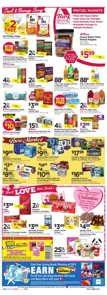 Tops Markets Ad Scan Week 1 21 18 Page 5
