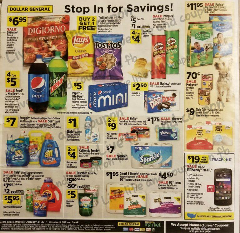 Dollar General Ad Week 1 21 Page 1