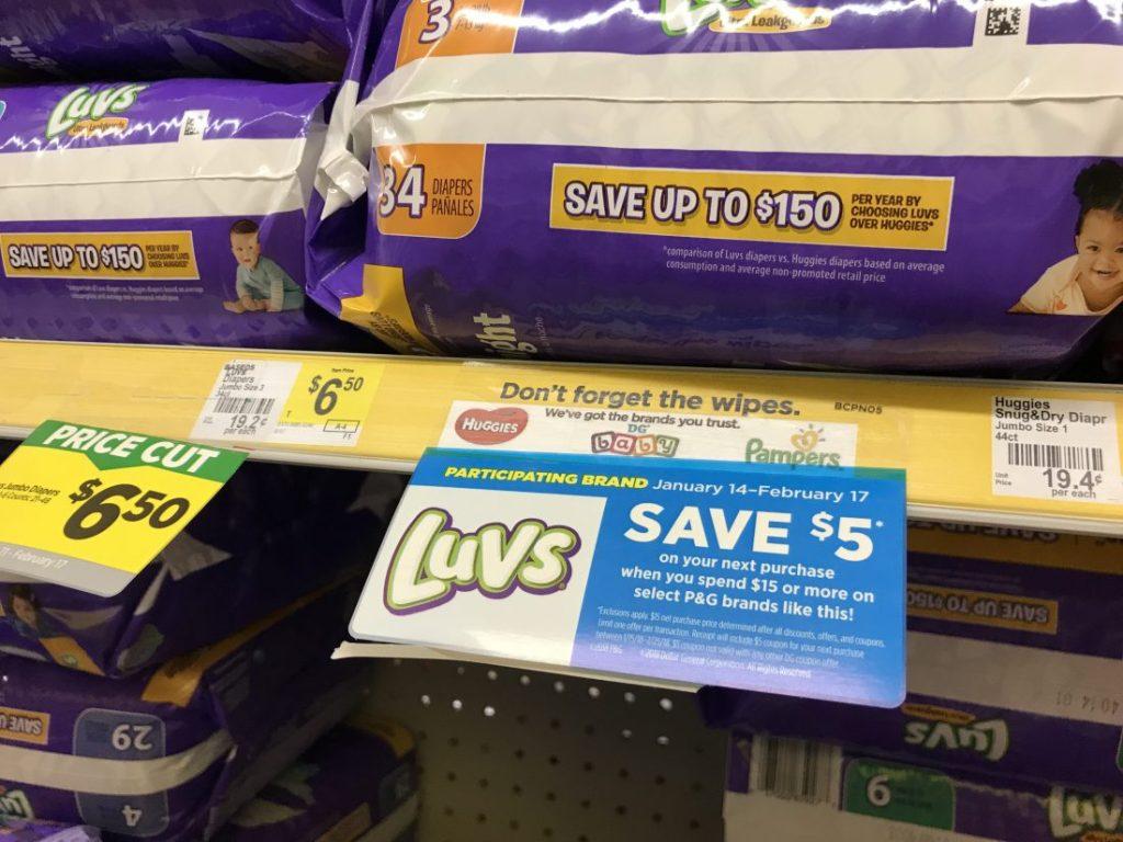 Luvs Diaper PG Promo At Dollar General