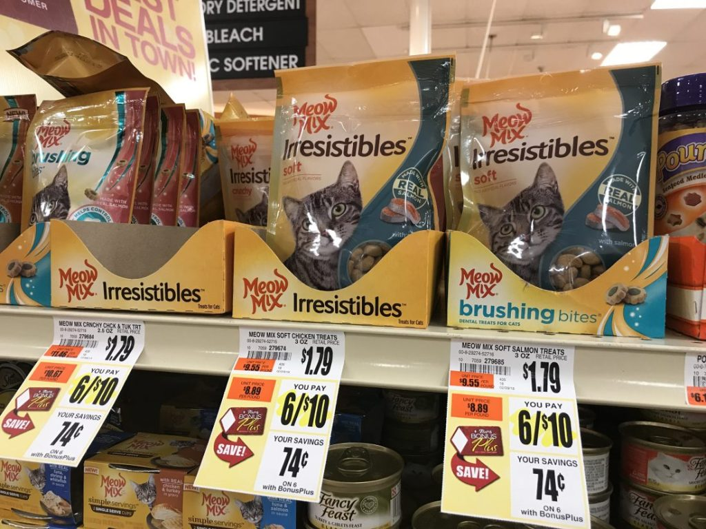 Meow Mix Treats At Tops