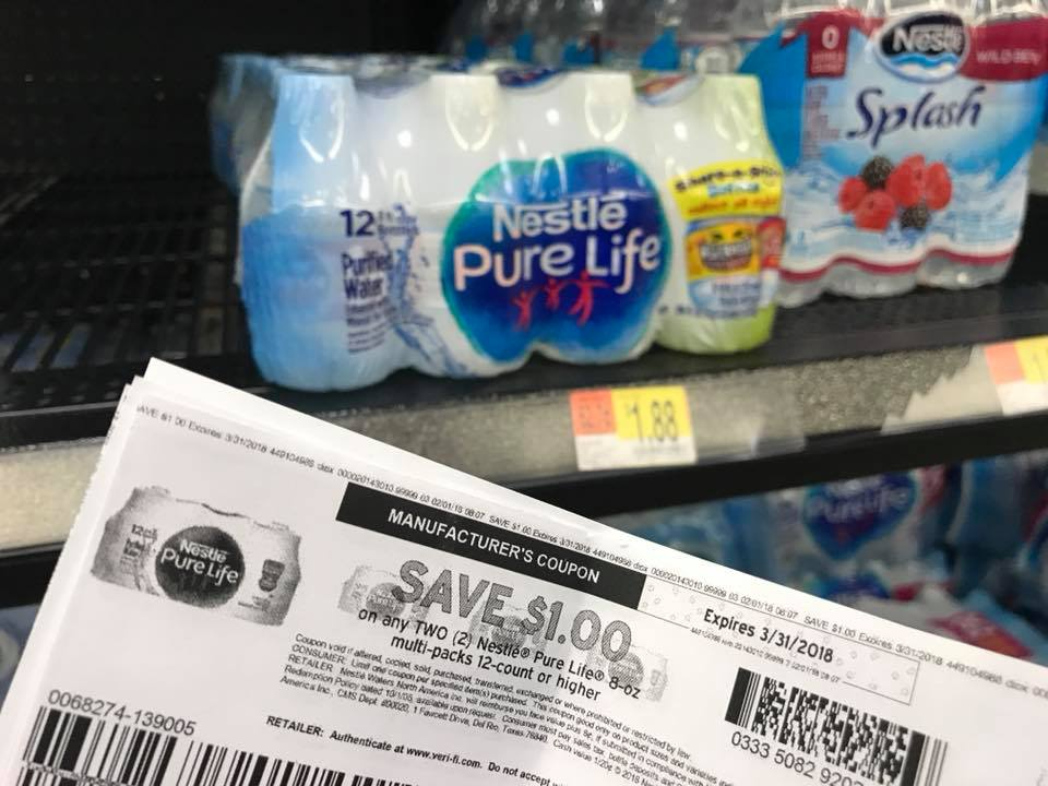 Nestle Pure Water 12 Pk 8 Oz Deal After Coupon At Walmart