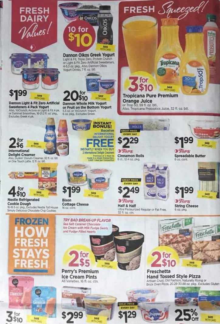 Tops Markets Ad Scan Week 2 4 18 Page 4a