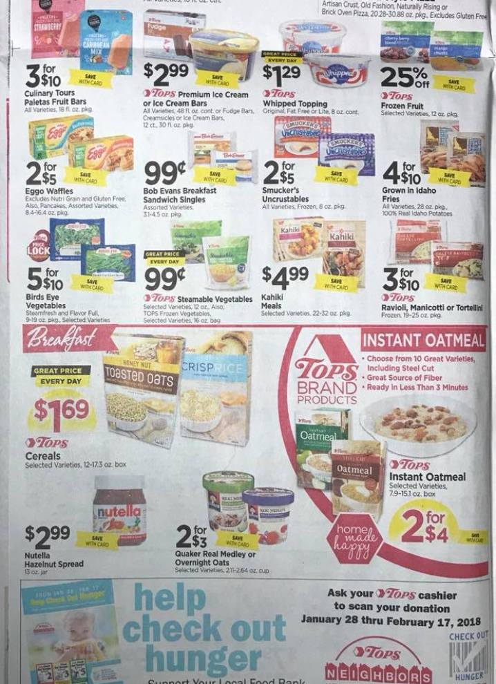 Tops Markets Ad Scan Week 2 4 18 Page 4b