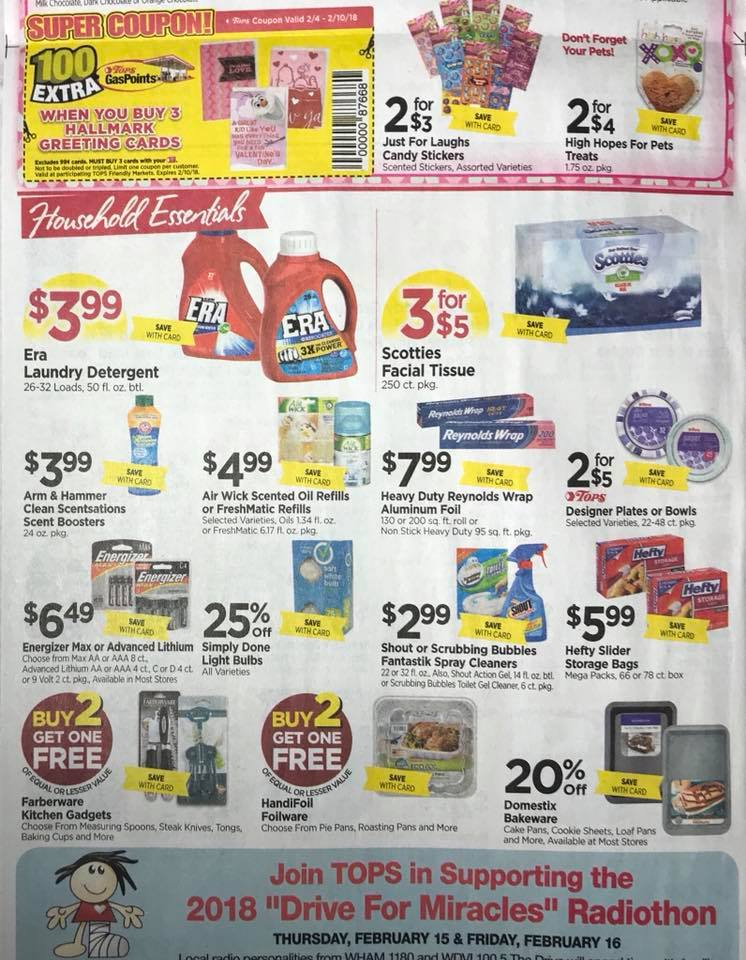 Tops Markets Ad Scan Week 2 4 18 Page 6b