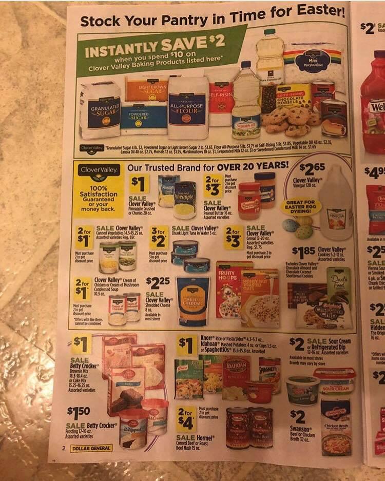 Dollar General Ad Week 3 18 Page 1