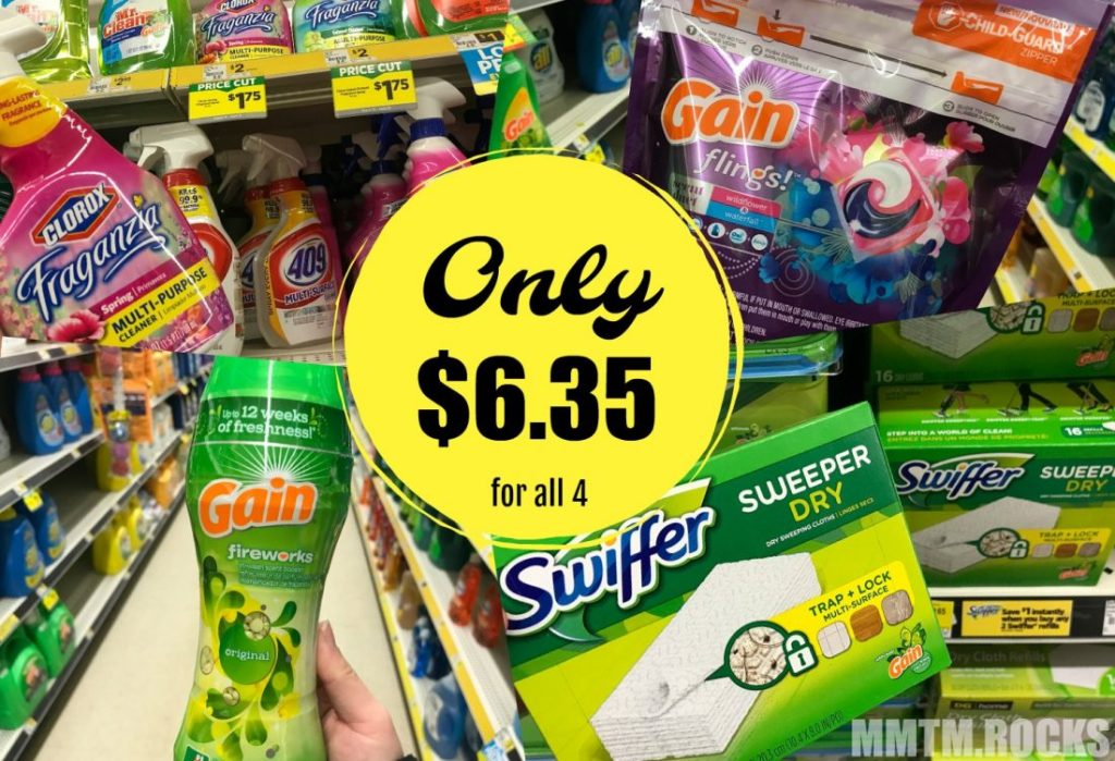 Clorox, 2 Gain, and Swiffer Refills for $6.35 at Dollar General