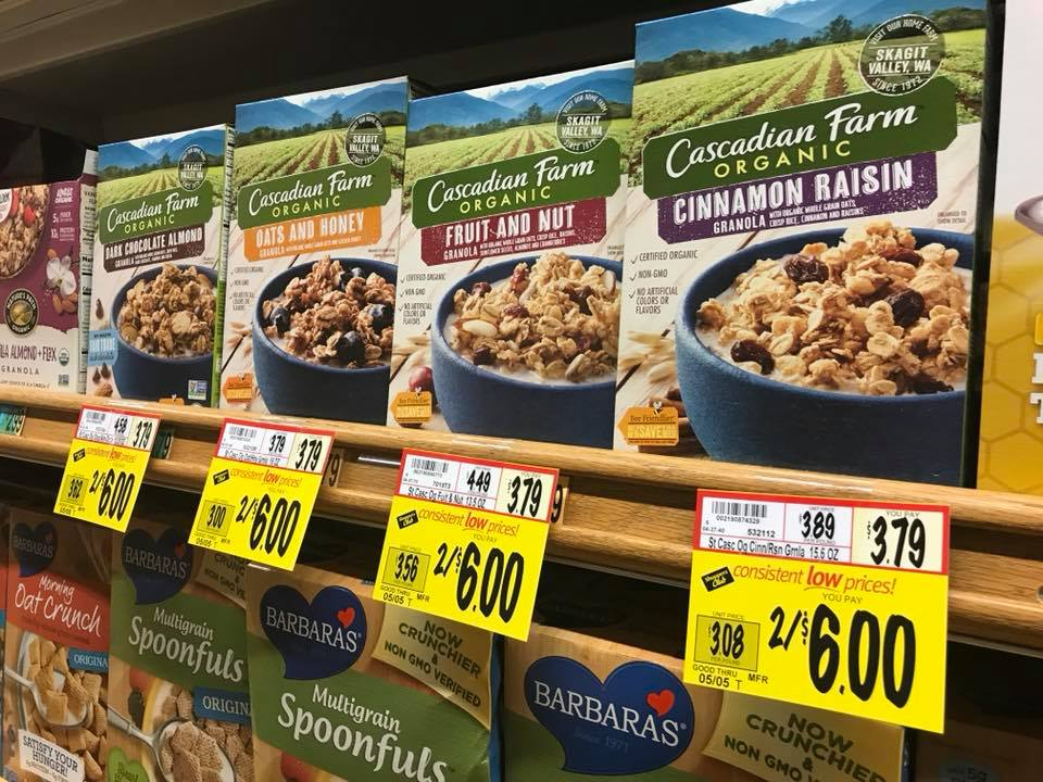 Cascadian Farms Organic Cereal Only $2.00 at Wegmans