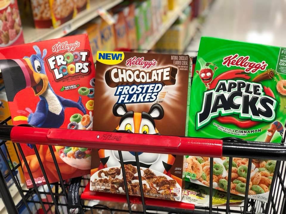 Kellogg's Cereal for Just $0.88 a Box at Tops