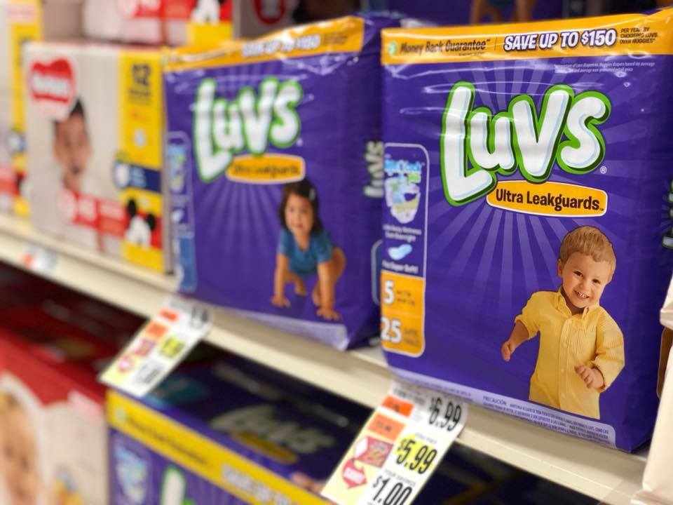 Luvs Diapers At Tops