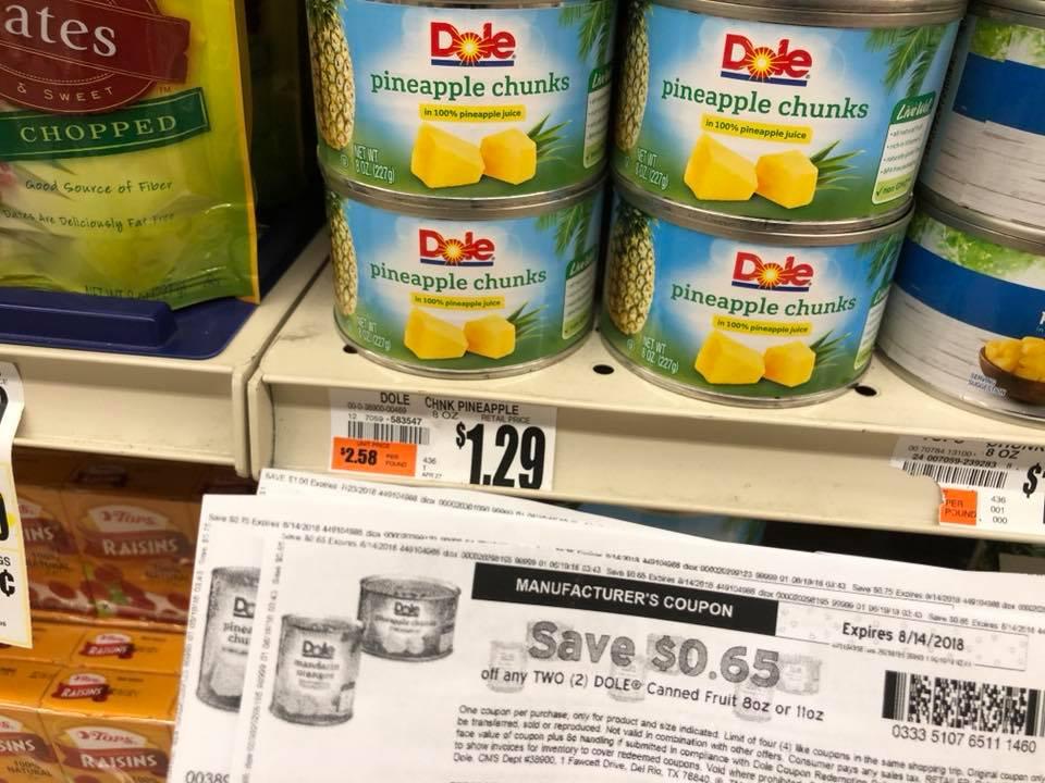 Dole Chunked Pineapple 8 Oz