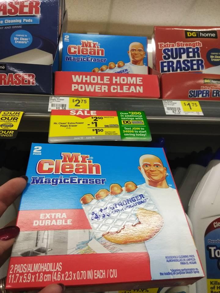 Mr Clean Eraser