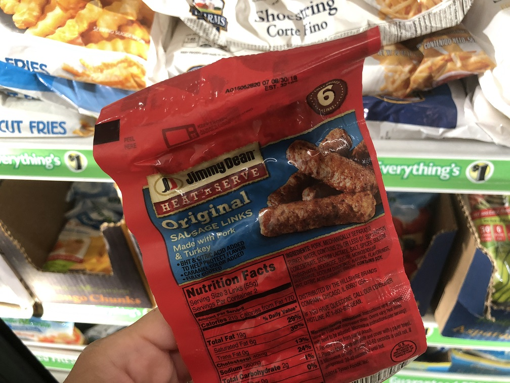 Jimmy Dean Frozen Sausages At Dollar Tree