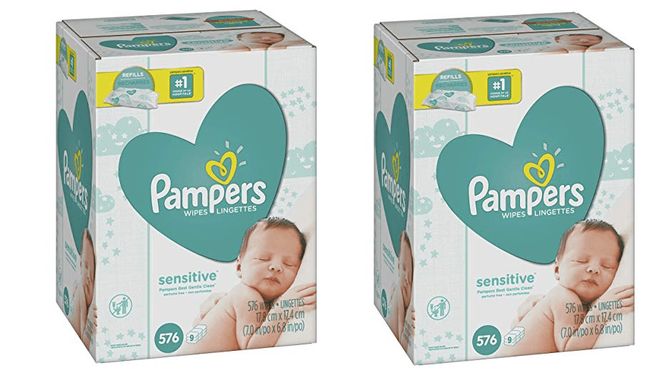 Pampers Sensitive Water Based Baby Diaper Wipes, 9 Refill Packs