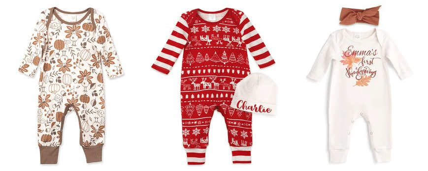 Baby's First Holiday Outfits Starting at $6.99 (and Personalized Ones too)