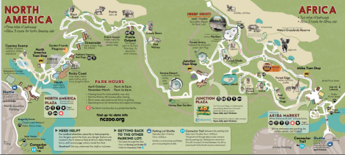 My Mommyology Map of NC Zoo