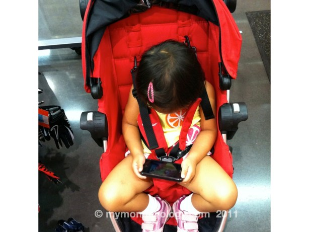 My Mommyology Stroller and iPhone