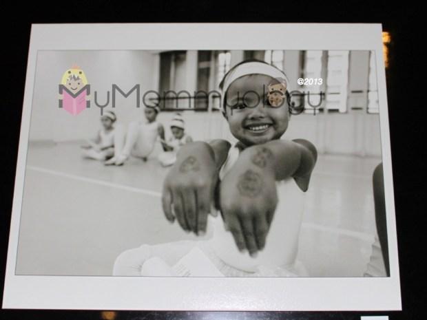 Part of the school's photo wall exhibit. :)