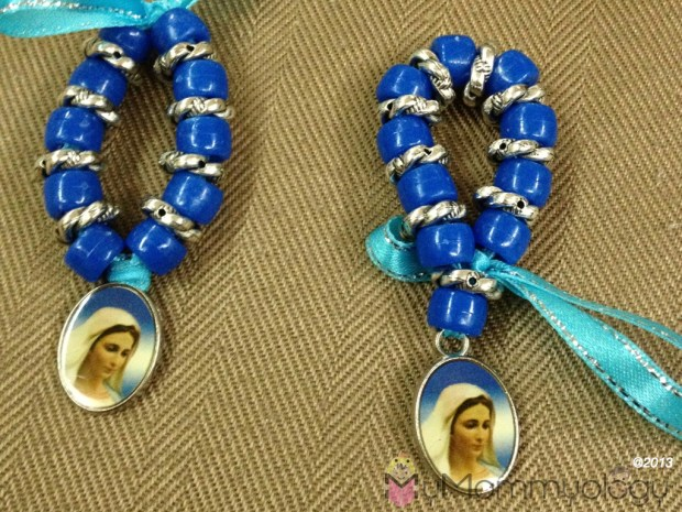 Voila!  My first hand-made Rosary