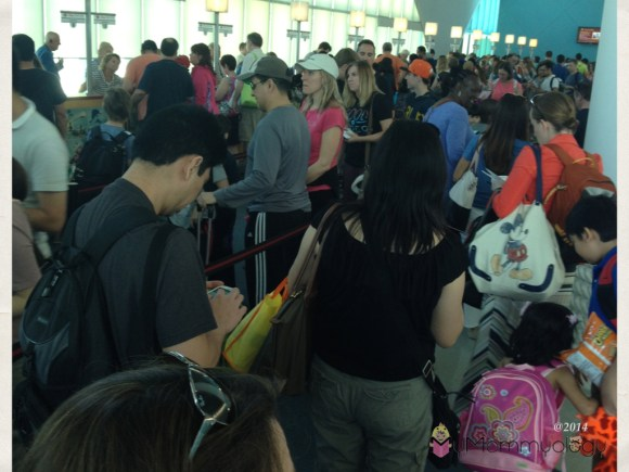 The long check-in lines.