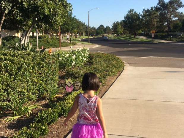 On our way to a playground.