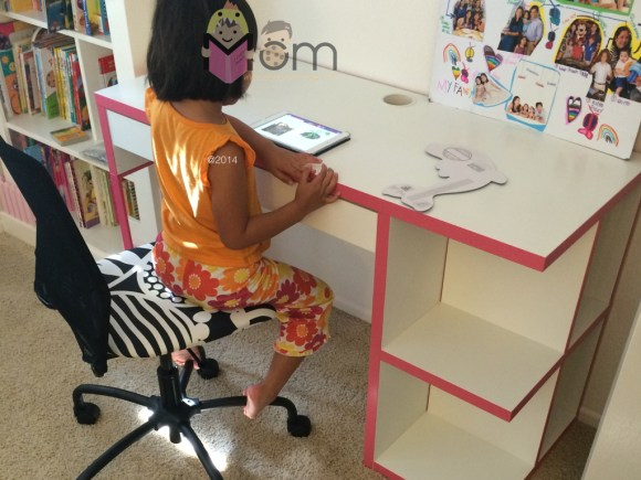 Ate finishing up her homework first thing in the morning.