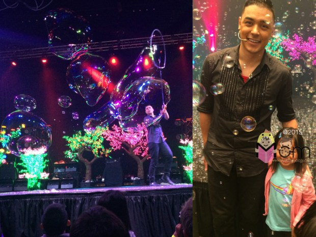 Left: Deni Yang in action.  Right:  Deni and Sam right after the show.
