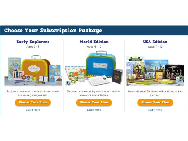 The Subscription Packages on the Little Passport's site.