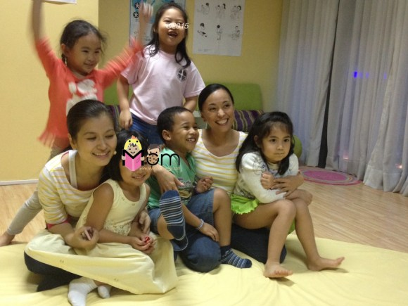 Teachers Jeannie and Maya with the Young Child 1 class!