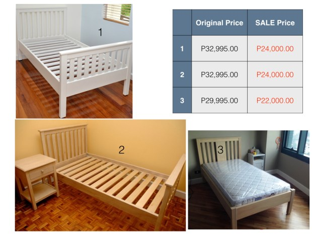 We have one White Francesca Bed left!