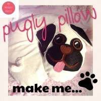 Make 'Pugly' the Pug Pillow