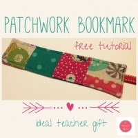 Patchwork bookmark tutorial