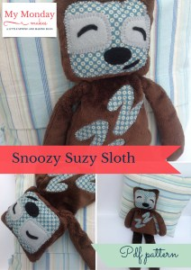 Snoozy Suzy Sloth sewing pattern
