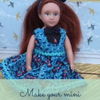 American Girl / Our Generation mini doll dress - Free pattern and tutorial